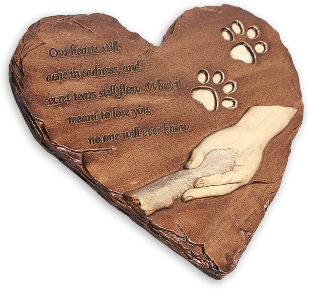 Personalized Pet Memorial Stone Engraved Name and Date Grave Marker Customizable Loss of Pet Gift Dog or Cat Headstone