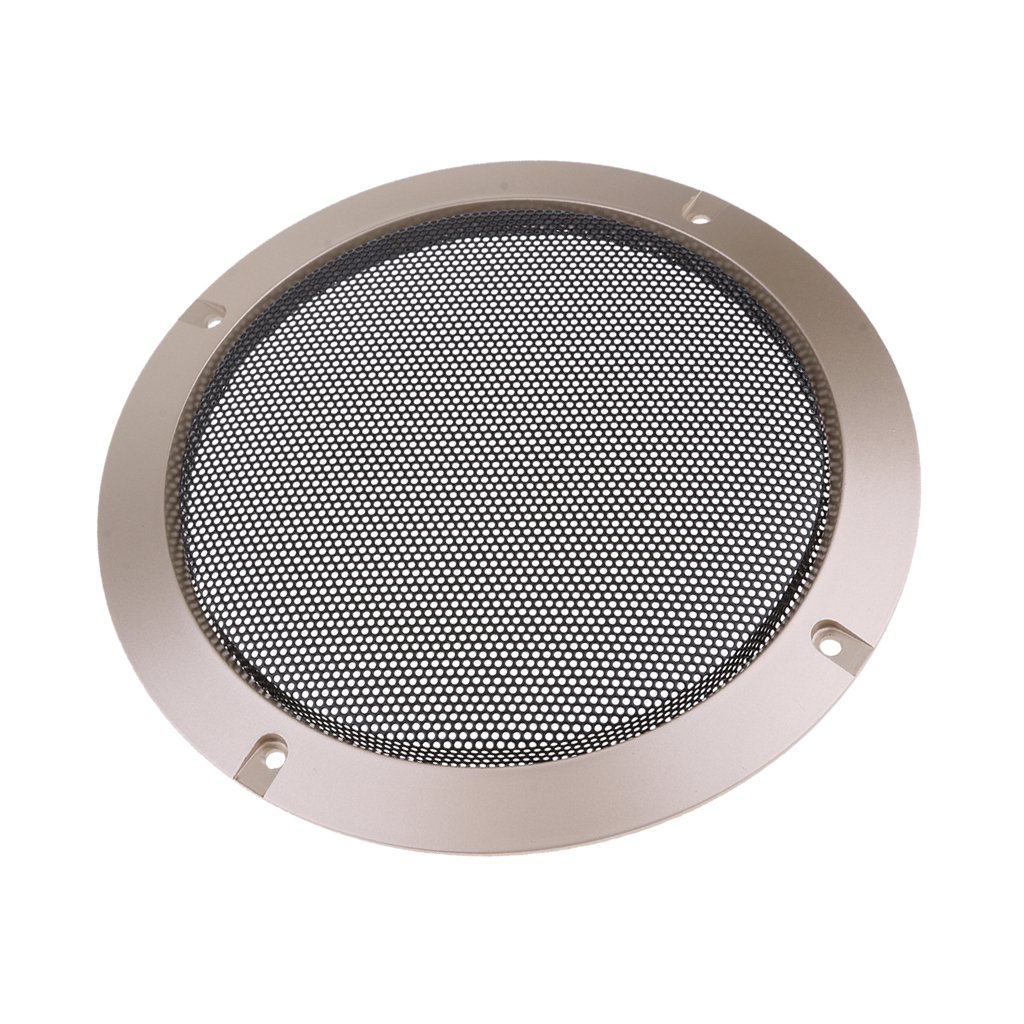 Gold 8 Zoll MagiDeal Auto Audio Lautsprecher Gitter Abdeckung mit Schrauben aus Metall kaltgewalzter Stahl und Kunststoff ABS