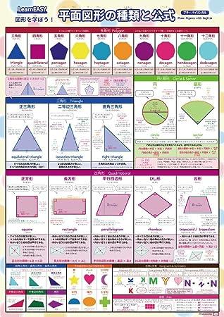 1枚で 平面図形 がわかる!LearnEASY 図形 を学ぼう!平面図形