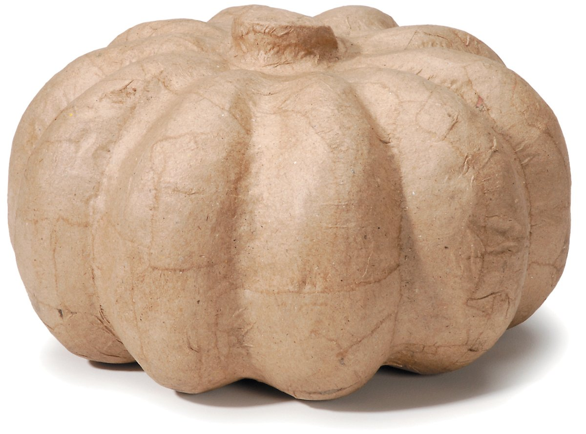 Paper Mache Pumpkin 6.5 X 4 Inches (12 Pack)