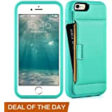 iphone 6 Wallet case, iphone 6 Case with Card Holder , ZVE Apple iphone 6 Case [Shockproof] Protective Slim iphone 6s Case with Credit Card Holder Wallet Cover for iPhone 6 / 6S 4.7 inch (Mint Green)