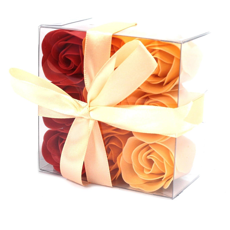 Lot de 9 Roses de Savon - Pèche Ancient Wisdom