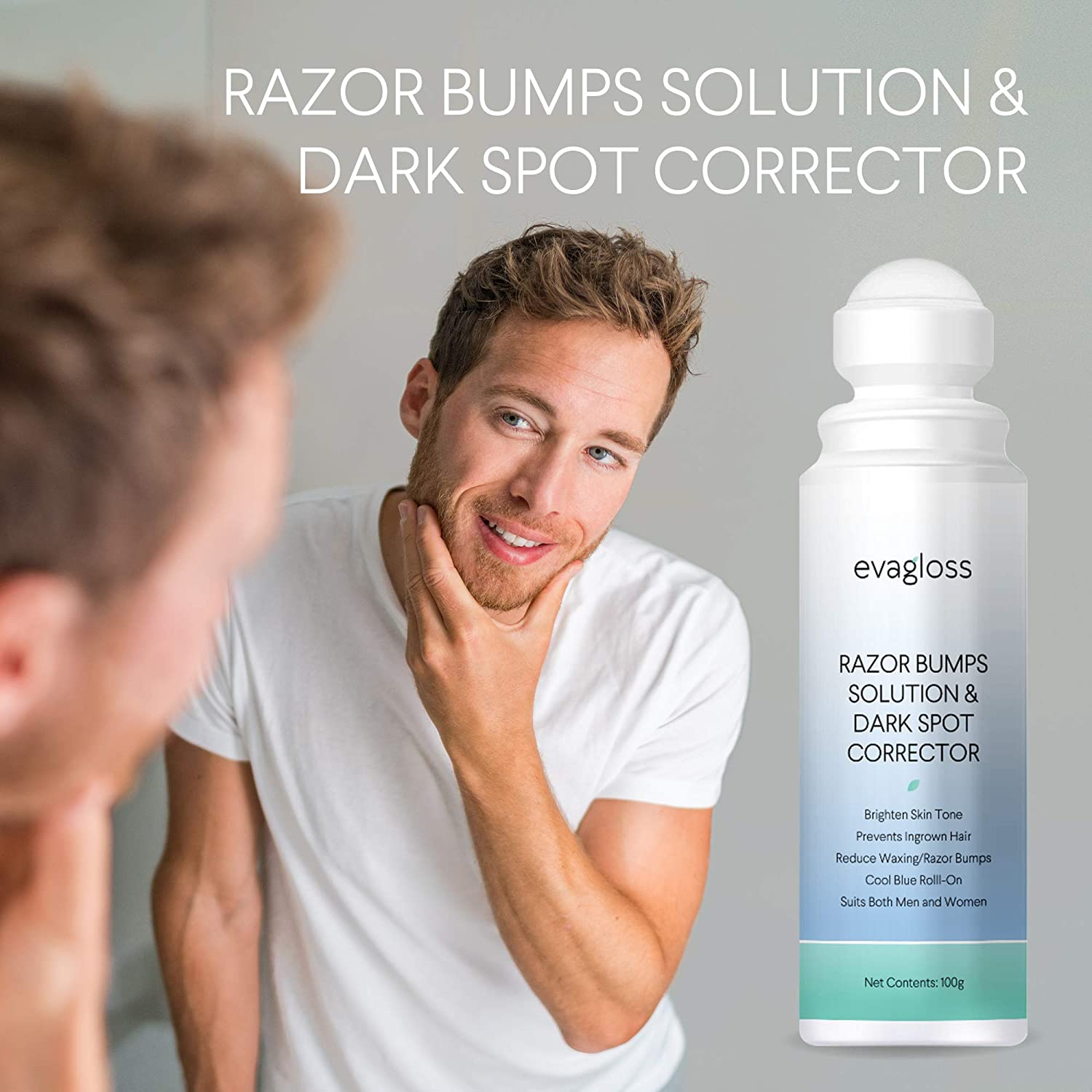 Evagloss Razor Bumps Solution After Shave Repair Serum for Ingrown Hairs and Razor Burns Dark Spot