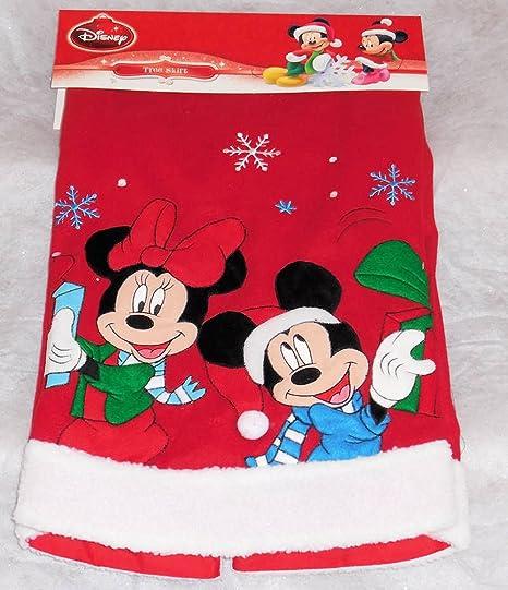 Disney Mickey & Minnie Mouse Falda de árbol de Navidad 48 Pulgadas ...