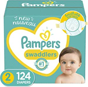 Diapers Size 2, 124 Count - Pampers Swaddlers Disposable Baby Diapers, Giant Pack (Packaging May Vary)