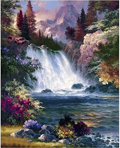 Diamond Painting 5D DIY Waterfall Scenic Full Square Rhinestone Diamond
