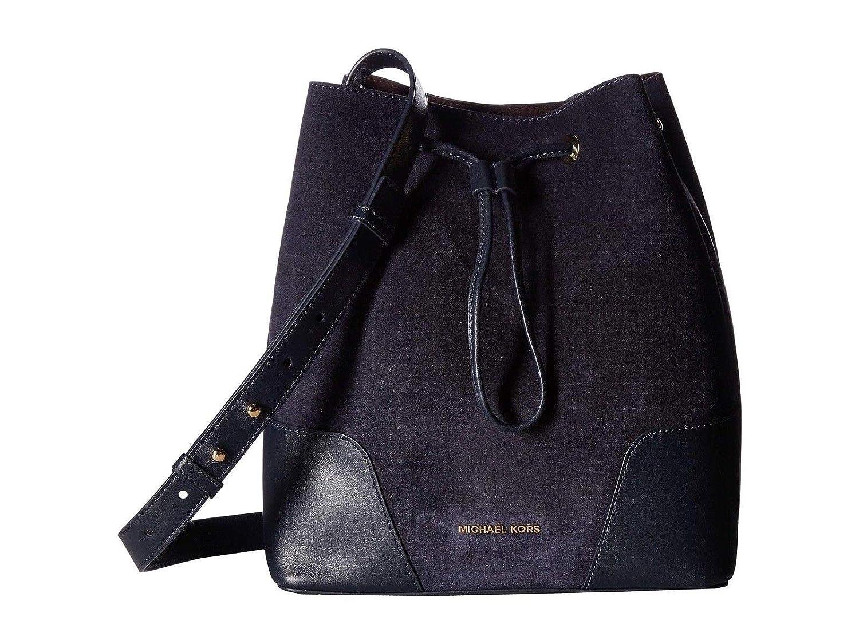 e3c9255f1621 Amazon.com  Michael Kors Cary Medium Suede Bucket Bag Admiral Navy  Clothing