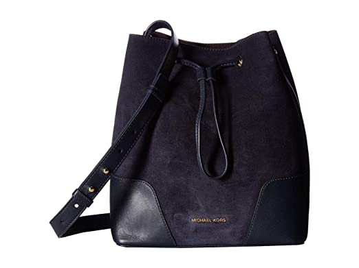 f4df057530a1fc Image Unavailable. Image not available for. Color: Michael Kors Cary Medium  Suede Bucket Bag ...