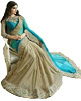 Saree(Navabi Export Sarees For Women Party Wear Half Sarees Offer Designer Below 500 Rupees Latest Design Under 300 Combo Art Silk New Collection 2017 In Latest With Designer Blouse Beautiful For Women Party Wear Sadi Offer Sarees Collection Kanchipuram Bollywood Bhagalpuri Embroidered Free Size Georgette Sari Mirror Work Marriage Wear Replica Sarees Wedding Casual Design With Blouse Material