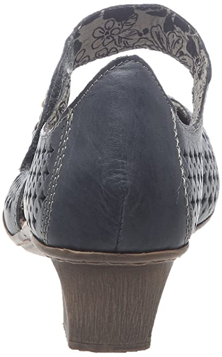 Rieker 49759 14, Damen Pumps, Blau (denimcongo 14), EU 41