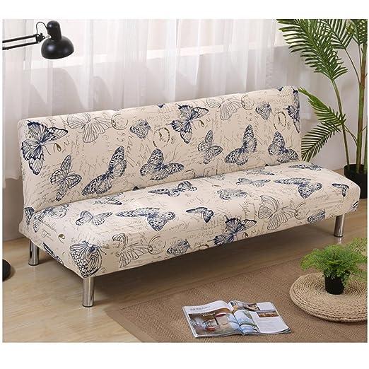 DISCOVERY Funda de sofá Cama Futon Protector Plegable sin Brazos elástico Spandex Moderno Simple Sala de Estar Fundas de sofá, Color-4, 160-190cm
