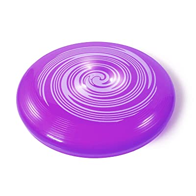 TychoTyke Classic Flying Disc Outdoor Toy 10 Inch Light Up Flyer Picnic - Purple: Toys & Games