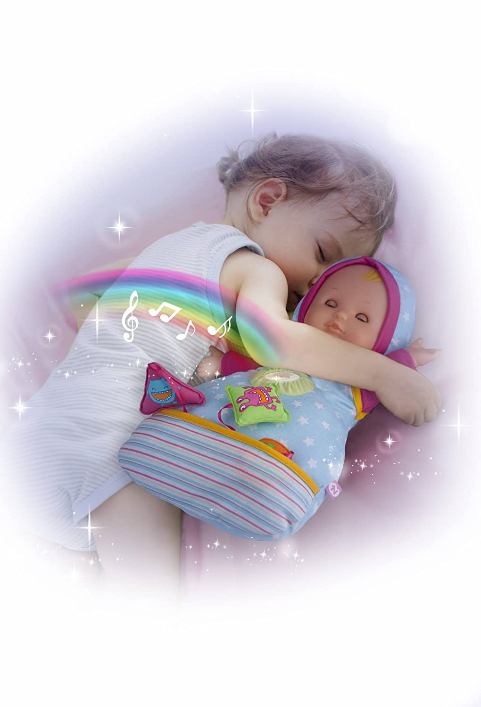 42 cm Multicolore Bambola soffice con effetti sonori e luminosi Famosa 700012384 Nenuco Happy Dreams