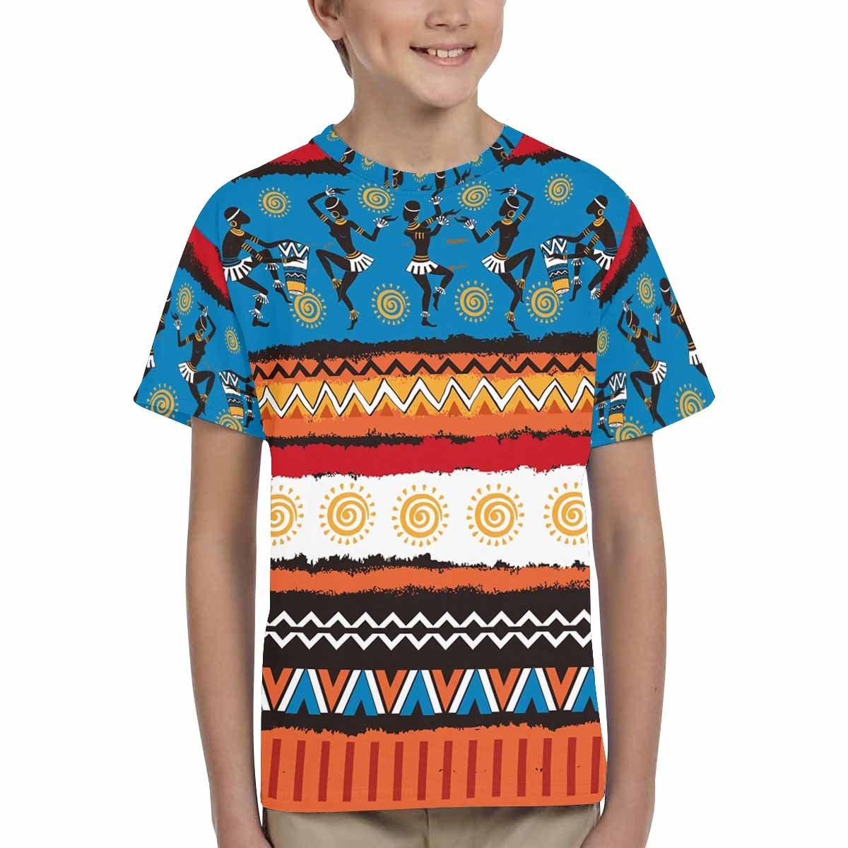 INTERESTPRINT Kids T-Shirts Ethnic Ornament Set XS-XL