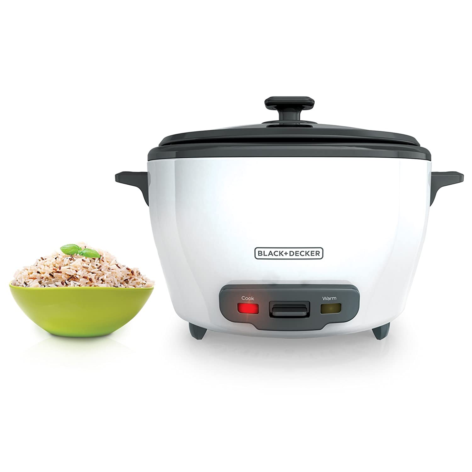 BLACK+DECKER RC5280 28 Cup Rice Cooker, White