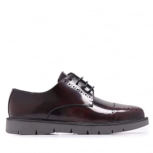 Castellanísimos Zapato Blucher de Piel Florentic con Picados Hombre Burdeos: Amazon.es: Zapatos y complementos