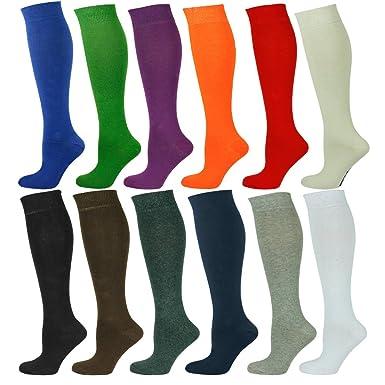 235d6b9b88f Mysocks Unisex Knee High Long Socks Plain at Amazon Men s Clothing store