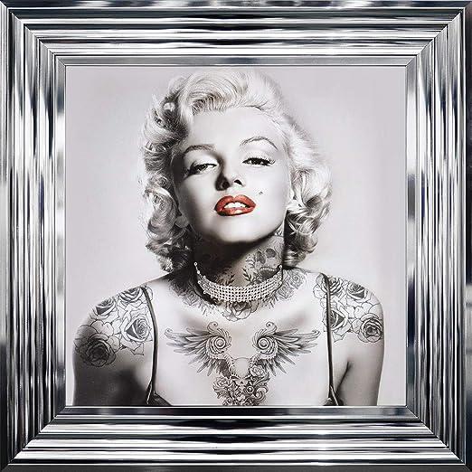 SHH Interiors Marilyn Monroe - Tatuajes enmarcados (55 x 55 cm ...