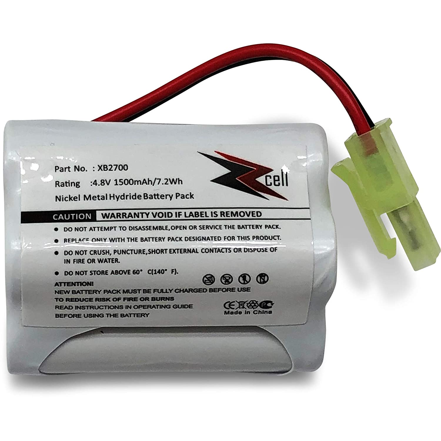ZZcell Battery for Euro Pro Shark Vacuum Carpet and Carpet Sweeper XB2700, V2930, V2700Z, VAC-XB2700, V2700, 1500mAh (1)