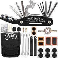 LCOUACEO Fiets-multitoolset, 16-in-1 gereedschap voor fietsreparatieset, fietsgereedschap met tas, 27 stuks…