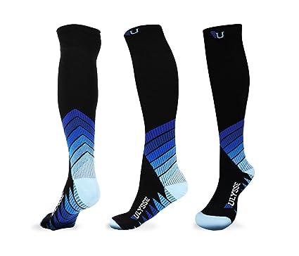 9c2e65e6d9 ULYSSE ATHLETICA Compression Socks for Men & Women Nurses Flight Travel  Long Haul Pregnant Pain Relief Comfort Anti-DVT Luxury 20-30MMhg Recovery  Shin ...