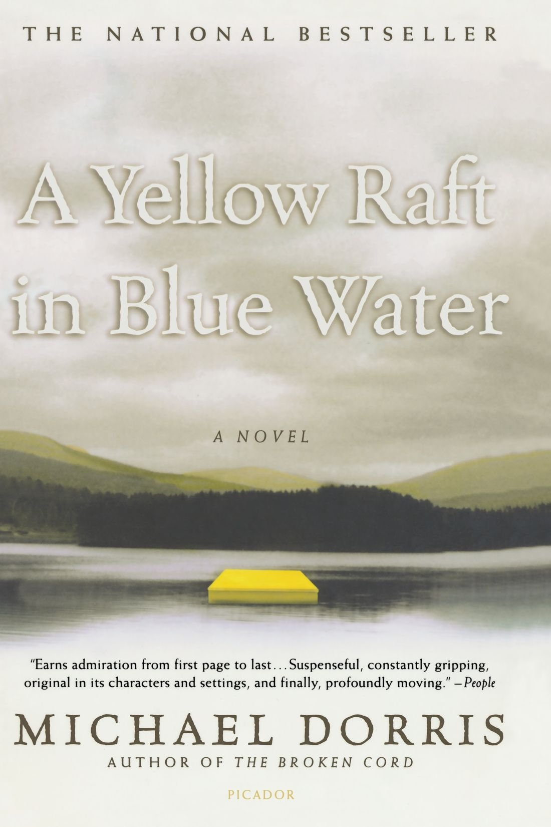 a yellow raft in blue water essay