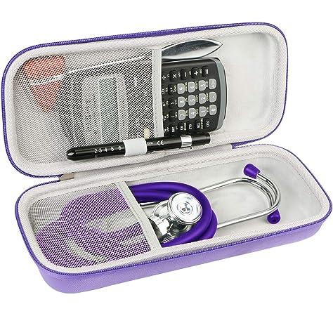 Khanka Duro Viaje Estuche Bolso Funda para estetoscopio 3M Littmann Classic Fonendoscopio (Púrpura): Amazon.es: Salud y cuidado personal
