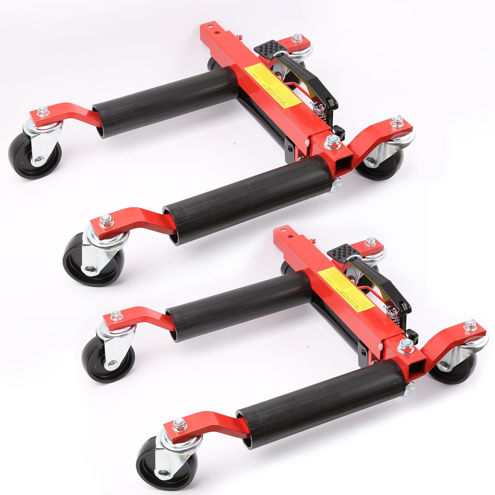 Lots of 2 1500lb Hydraulic Vehicle Positioning Jack Wheel Dolly Lift Mover Vehicle Car SUV