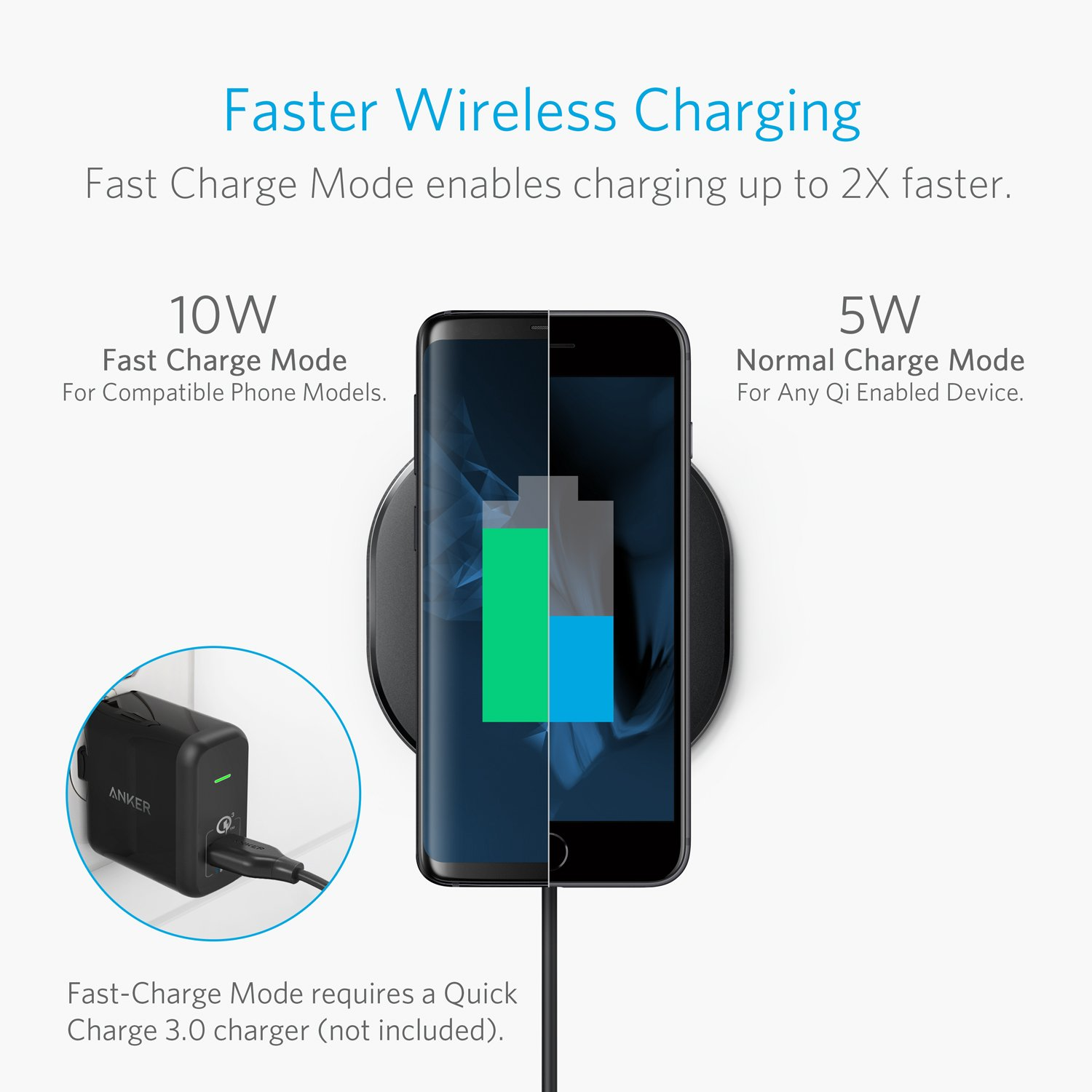 Wireless 10 patible iPhone Xs Max XR XS 8 8 Plus iPhone X 10W Fast Charging Samsung Galaxy S9 S9 S8 S8 S7 S7 Edge More Cell Phones & Accessories