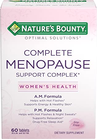 Natures Bounty Optimal Solutions Menopause Support, 60 Tablets