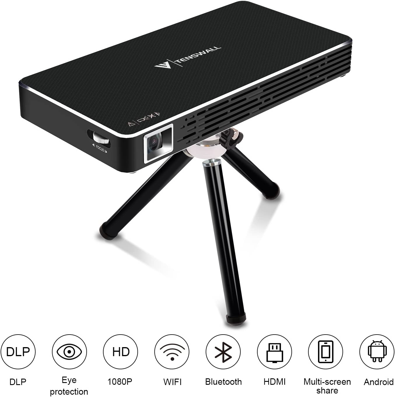 Mini Proyector, Tenswall Portátil DLP Video Proyectors Android 7.1 ...