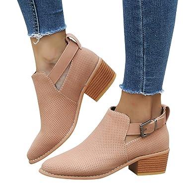 Stiefeletten Damen Stiefel Vintage Chelsea Boots Flandell Schuhe  Stiefeletten mit Blockabsatz 5.5 cm Damenstiefe Kurzstiefe Absatzstiefe 9924fdefc3