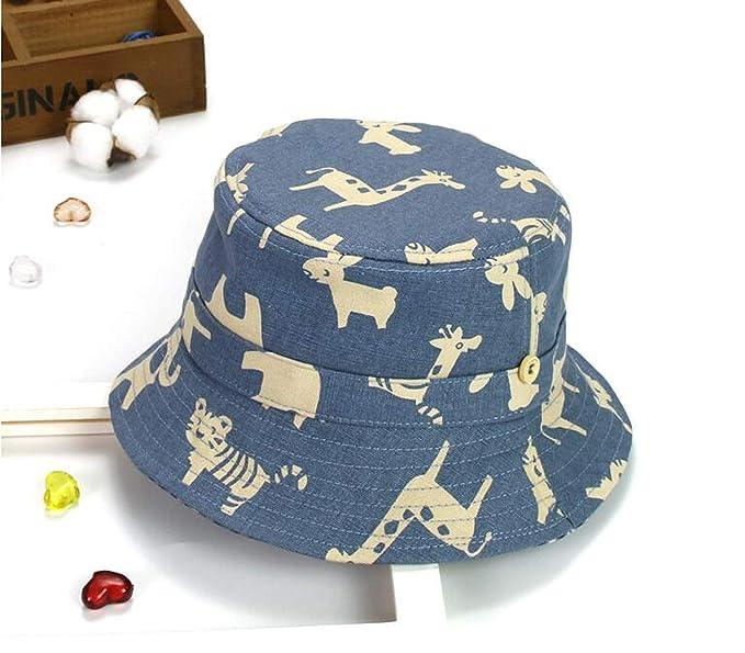 07d7d50eab7 Child Bucket Hat Flat Unisex Animal Fisherman Cap Cartoon Print Outdoor Beach  Hat Boy Girl Kids