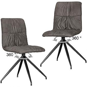 KadimaDesign Juego de 2 sillas de Comedor de diseño HERRY en Estilo ...