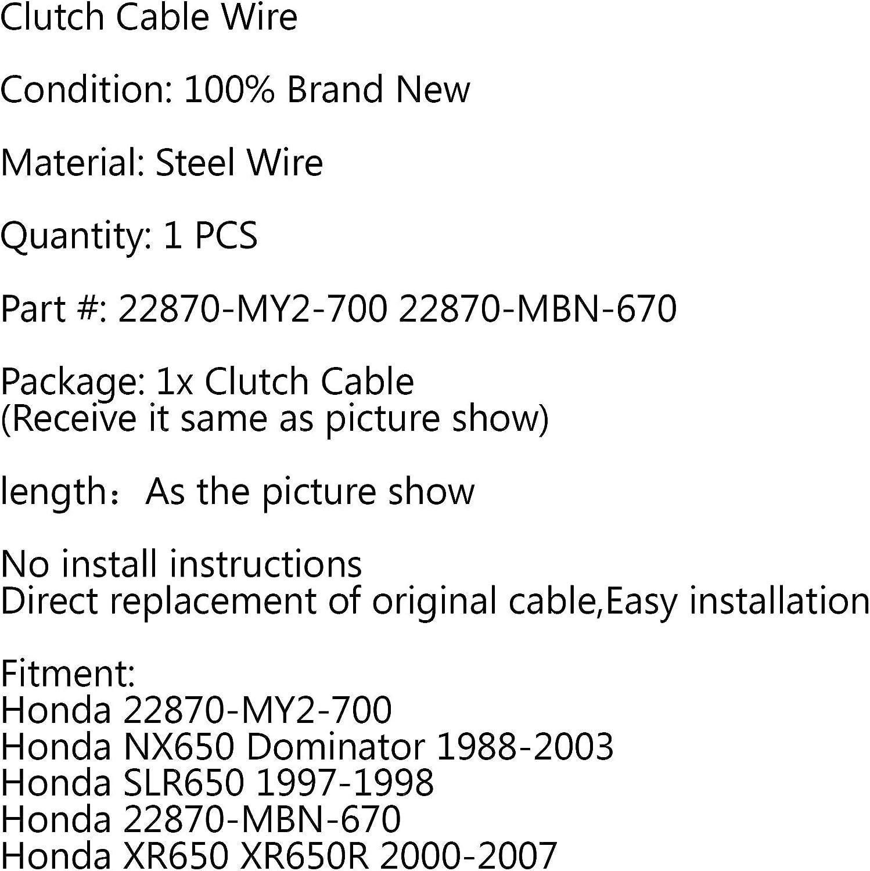 Cavo frizione di ricambio per Hon-da NX650 Dominator 1988-2003 SLR650 XR650 XR650R Topteng