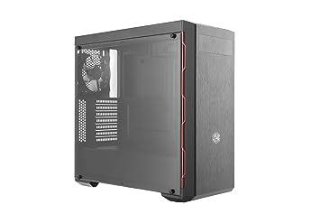 Cooler Master MasterBox MB600L with ODD, Red Trim - Cajas de ordenador de sobremesa ATX, microATX, mini-ITX, USB 3.0, con ventana MCB-B600L-KA5N-S00