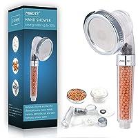 Pommeaux de douchette à haute pression et débit réduit, avec système de filtration et 3modes de douche pour peaux sèches et cheveux par Mibote