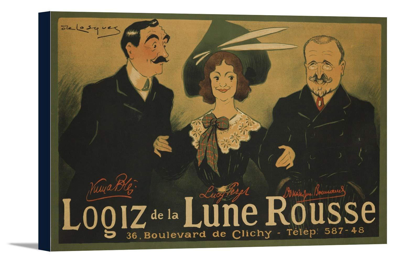 logiz de la Lune Rousseヴィンテージポスター(アーティスト: de Losques )フランスC。1904 36 x 24 Gallery Canvas LANT-3P-SC-62681-24x36 B0184B3WY2  36 x 24 Gallery Canvas