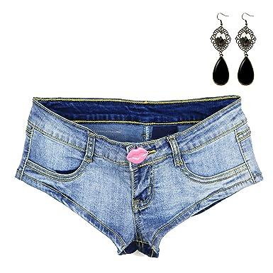 Gepäck & Taschen Frauen Blau Jean Shorts Jeans Low Rise Denim Shorts Sexy Jean Punk Shorts Für Frauen Lace Up Quaste Verband Mini Kurze Jeans
