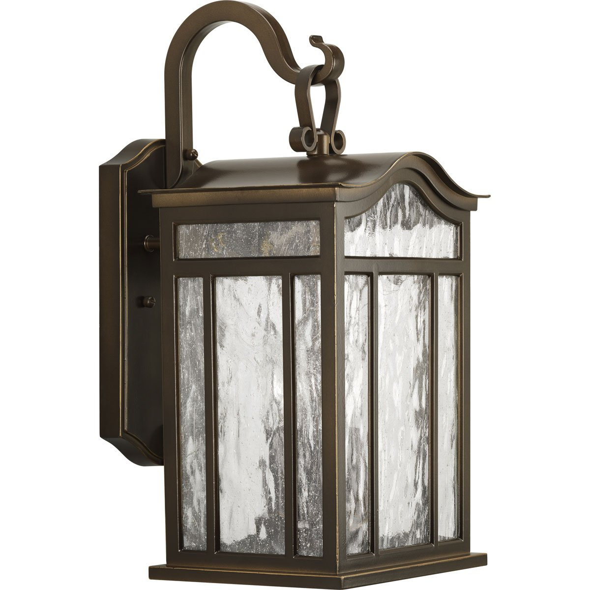 Progress Lighting P5717-108 3-Light Medium Outdoor Wall Lantern with Unique Arched Roof and Top Ribbon Scrolled Loops with Arching Arms, Oil Rubbed Bronze by Progress Lighting [並行輸入品]   B003BNA73S