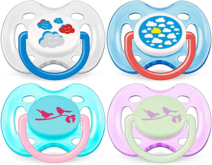 2 pack SCF172/18 Philips Avent Freeflow Pacifier 0-6m Baby ...