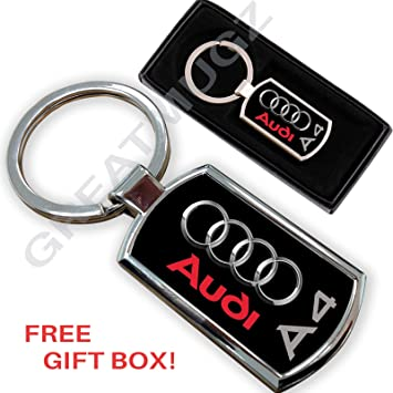 Cargifts - Llavero de Metal Cromado para Audi A4