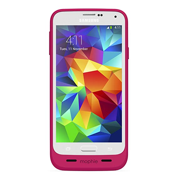 new concept 176bf 1aed7 mophie 2334 Juice Pack for Samsung Galaxy S5 - Pink