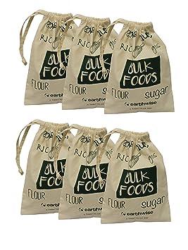 Earthwise orgánico algodón reutilizable producir bolsas para ...