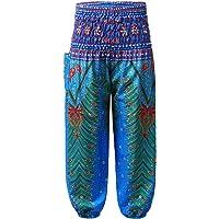 TiaoBug Pantalones Harem para Niñas Infantiles Pantalón Holgado Bohemio de Playa Pantalones Largos Bombacho Casual…