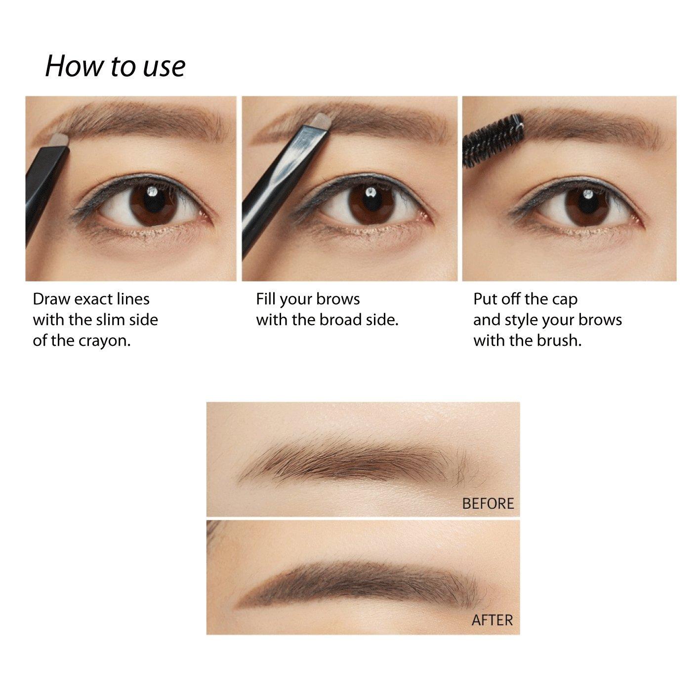 Amazon Missha Perfect Eyebrow Styler Dark Brown Beauty