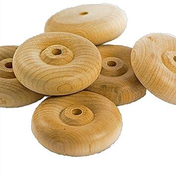 Ruedas de madera sin terminar para juguetes coches, muebles, vagones y manualidades