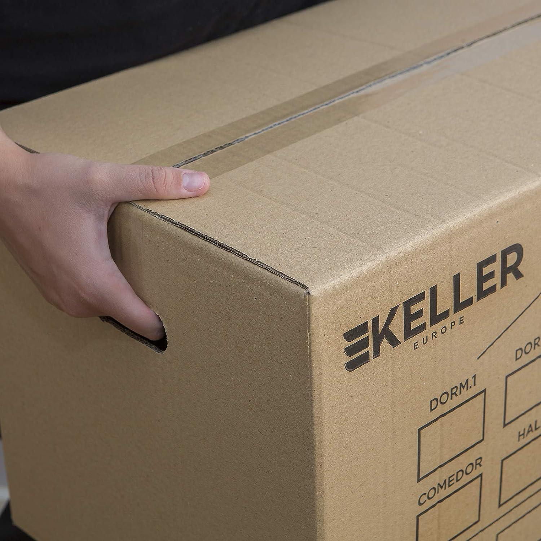 Cajas de Carton Grandes de Canal Doble Extraresistentes con Asas Integradas Cajas Carton Mundanza 500x300x300mm Fabricadas en Espa/ña 15 UNIDADES