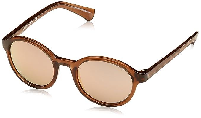 Emporio Armani 4054, Gafas de Sol Unisex-Adulto, Transparente Brown 53744Z, 49