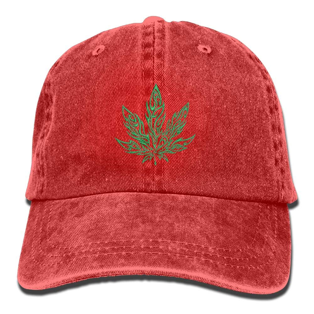 Marijuana Leaf Weed Unisex Washed Twill Cotton Baseball Cap
